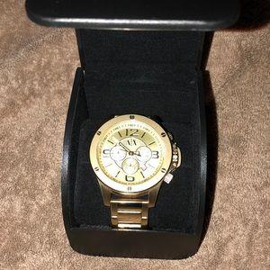 A | X Armani Exchange Gold Watch
